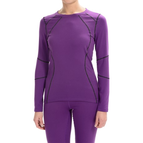 Terramar Genesis Fleece Base Layer Top - UPF 50+, Long Sleeve (For Women) in Purple Rain