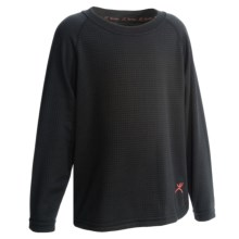 Terramar Geo Fleece Base Layer Top - Heavyweight, Long Sleeve (For Toddlers) in Black - Closeouts