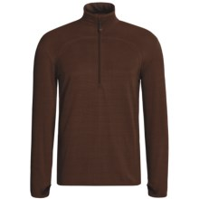 Terramar GEO Fleece Base Layer Top - Zip Neck (For Men) in Mudslide - Closeouts