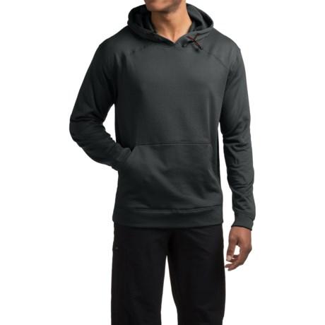 Terramar Geo Fleece Hoodie Base Layer Top - Long Sleeve (For Men) in Charcoal