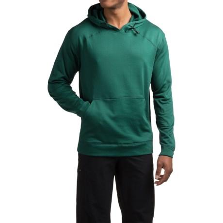 Terramar Geo Fleece Hoodie Base Layer Top - Long Sleeve (For Men) in Evergreen