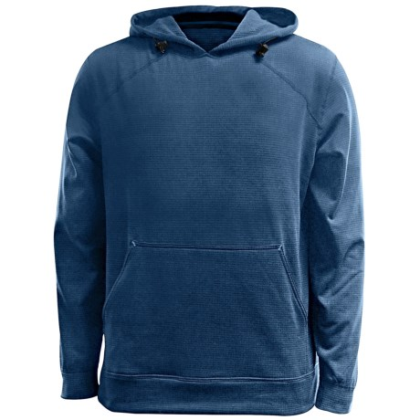 Terramar Geo Fleece Hoodie Base Layer Top - Long Sleeve (For Men) in Steel Blue