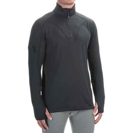 Terramar Geo Tek 3.0 Base Layer Top - UPF 50+, Heavyweight, Zip Neck, Long Sleeve (For Men) in Black - Closeouts
