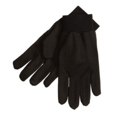 Terramar Glove Liners - Silk (For Men and Women) in Black