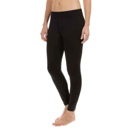 Terramar Grid Fleece Tights (For Women) in Black - Closeouts