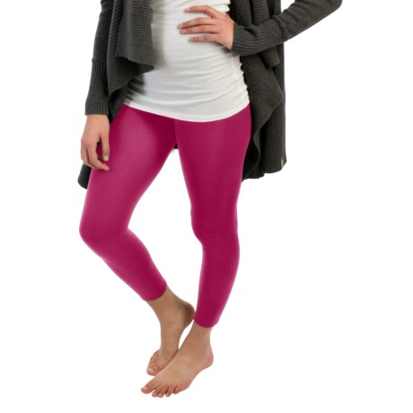 Terramar Heavy Footless Leggings - Base Layer (For Women) in Berry
