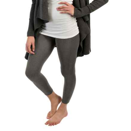 Terramar Heavy Footless Leggings - Base Layer (For Women) in Black Heather - Closeouts