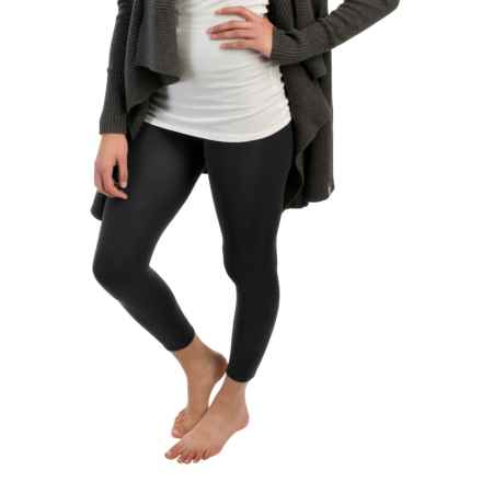 Terramar Heavy Footless Leggings - Base Layer (For Women) in Black - Closeouts