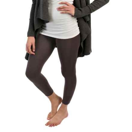 Terramar Heavy Footless Leggings - Base Layer (For Women) in Charcoal - Closeouts