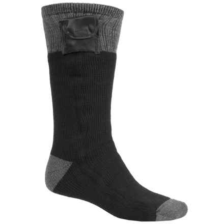 Terramar Heavyweight Battery-Heated Socks - Mid Calf (For Men) in Black - Closeouts
