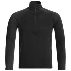 Terramar Helix 1.0 Thermolator Top - Lightweight, Zip Neck, Long Sleeve (For Men) in Black