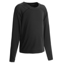 Terramar Helix Base Layer Crew Top - Lightweight, Long Sleeve (For Kids) in Black - Closeouts
