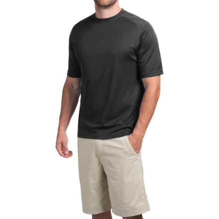 Terramar Helix T-Shirt - Lightweight, UPF 25+, Short Sleeve (For Men) in Black - Closeouts