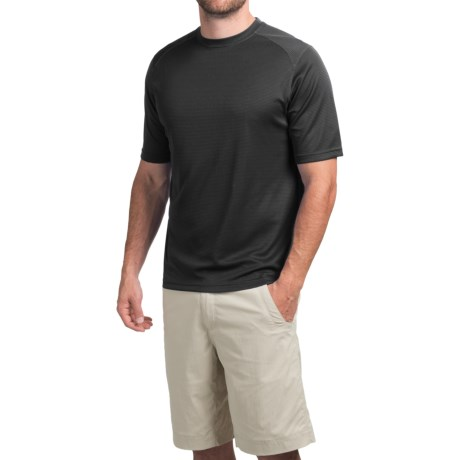 Terramar Helix T-Shirt - Lightweight, UPF 25+, Short Sleeve (For Men) in Gunmetal