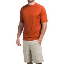 Terramar Helix T-Shirt - Lightweight, UPF 25+, Short Sleeve (For Men) in Brick - Closeouts