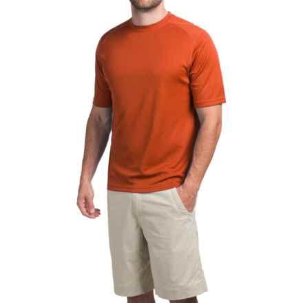 Terramar Helix T-Shirt - Lightweight, UPF 25+, Short Sleeve (For Men) in Brick - Closeouts