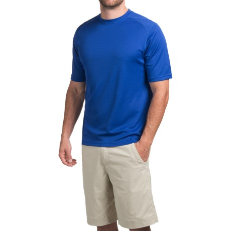 Terramar Helix T-Shirt - Lightweight, UPF 25+, Short Sleeve (For Men) in Bright Blue