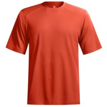 Terramar Helix T-Shirt - Lightweight, UPF 25+, Short Sleeve (For Men) in Bright Orange - Closeouts