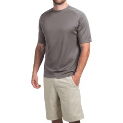 Terramar Helix T-Shirt - Lightweight, UPF 25+, Short Sleeve (For Men) in White