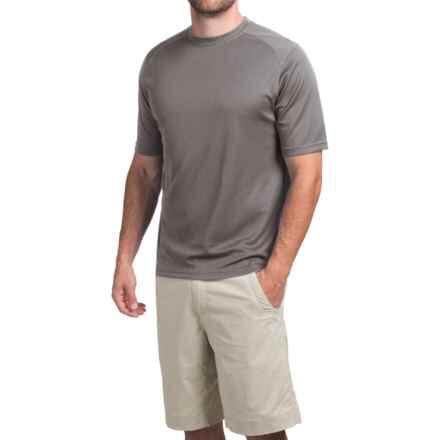 Terramar Helix T-Shirt - Lightweight, UPF 25+, Short Sleeve (For Men) in Gunmetal - Closeouts