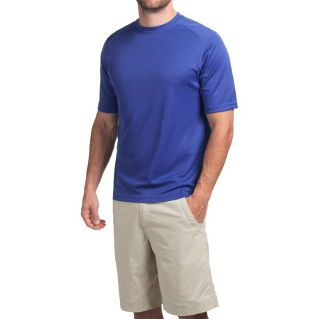 Terramar Helix T-Shirt - Lightweight, UPF 25+, Short Sleeve (For Men) in Indigo