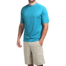 Terramar Helix T-Shirt - Lightweight, UPF 25+, Short Sleeve (For Men) in Lagoon - Closeouts