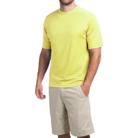 Terramar Helix T-Shirt - Lightweight, UPF 25+, Short Sleeve (For Men) in Limelight - Closeouts