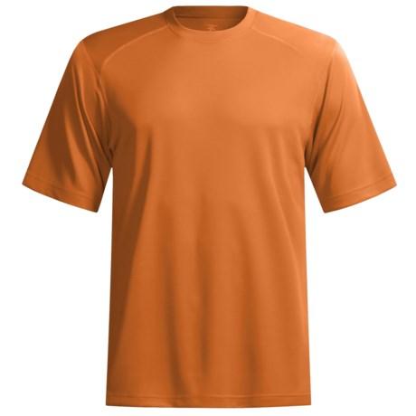 Terramar Helix T-Shirt - Lightweight, UPF 25+, Short Sleeve (For Men) in Russet