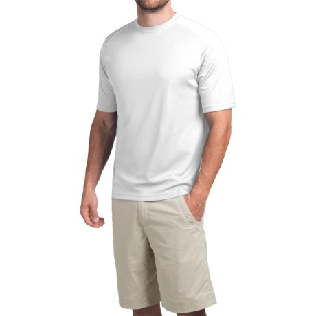 Terramar Helix T-Shirt - Lightweight, UPF 25+, Short Sleeve (For Men) in Black
