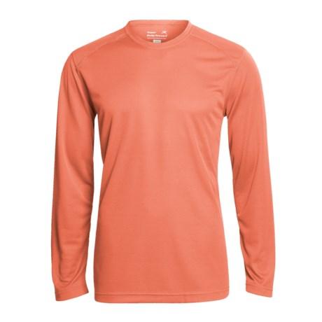 Terramar Helix T-Shirt - UPF 25+, Long Sleeve (For Men) in Brick