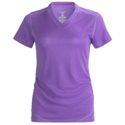 Terramar Helix T-Shirt -UPF 25+, Short Sleeve (For Women) in Black