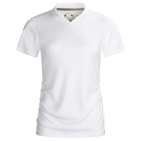 Terramar Helix T-Shirt -UPF 25+, Short Sleeve (For Women) in White