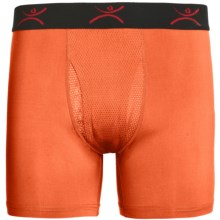 Terramar High-Performance Essentials Odor-Control Boxer Briefs - Pro Jersey, Climasense (For Men) in Bright Orange - Closeouts