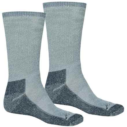 Terramar Hiker Crew Socks - 2-Pack, Merino Wool (For Men and Women) in Denim Heather - Closeouts