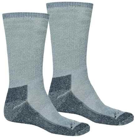 Terramar Hiker Crew Socks - 2-Pack, Merino Wool (For Men and Women) in Denim Heather - Closeouts
