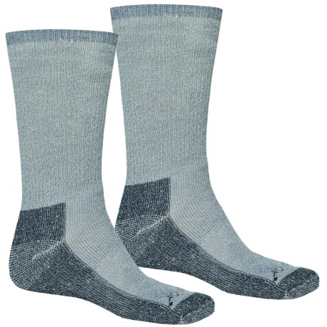 Terramar Hiker Crew Socks - 2-Pack, Merino Wool (For Men and Women) in Denim Heather