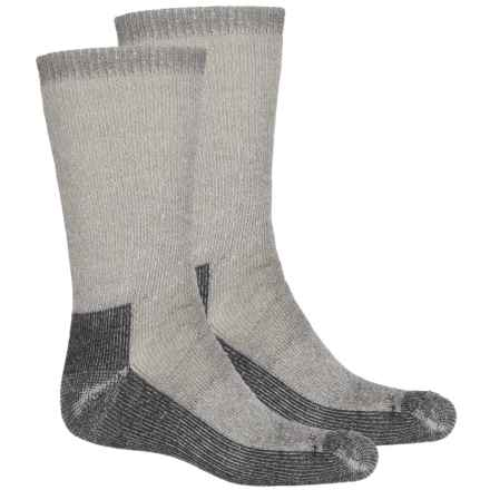 Terramar Hiker Crew Socks - 2-Pack, Merino Wool (For Men and Women) in Grey Heather - Closeouts