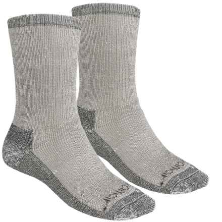Terramar Hiker Crew Socks - 2-Pack, Merino Wool (For Men and Women) in Grey Mix - Closeouts