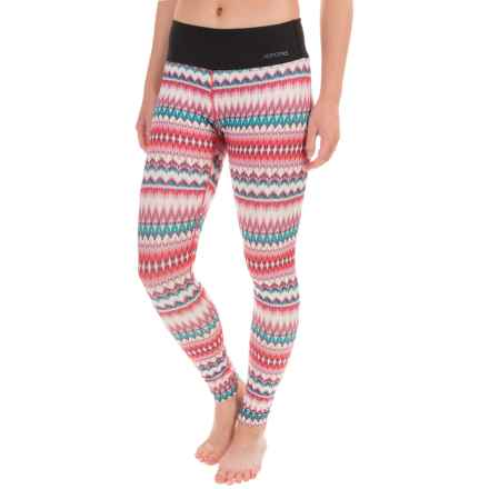 Terramar Hottotties® Cloud 9 Base Layer Tights - UPF 25+ (For Women) in Aztec Print - Closeouts