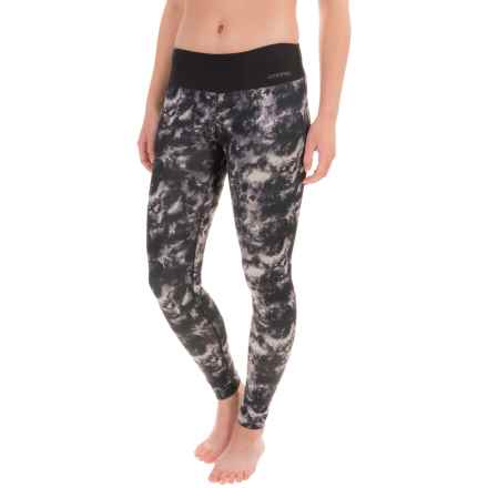 Terramar Hottotties® Cloud 9 Base Layer Tights - UPF 25+ (For Women) in Black/White Tie Dye Print - Closeouts
