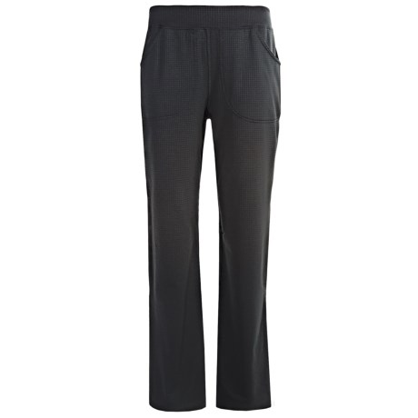 Terramar Hottotties Grid Fleece 3.0 Bottoms - UPF 50+, Midweight, Loose Fit (For Women) in Black