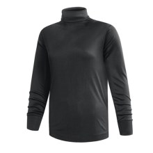 Terramar Interlock Turtleneck - Lightweight, Long Sleeve (For Women) in Black - 2nds