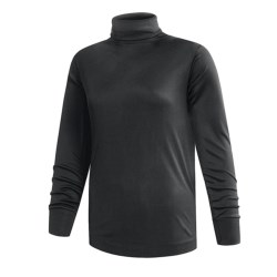 Terramar Interlock Turtleneck - Lightweight, Long Sleeve (For Women) in Black