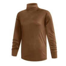 Terramar Interlock Turtleneck - Lightweight, Long Sleeve (For Women) in Brown - 2nds