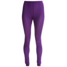 Terramar Jacquard Silk Base Layer Bottoms - Lightweight (For Women) in Purple - Closeouts