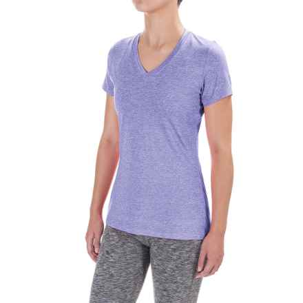 Terramar Knockout T-Shirt - V-Neck, Short Sleeve (For Women) in Lilac - Closeouts