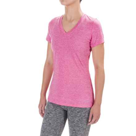 Terramar Knockout T-Shirt - V-Neck, Short Sleeve (For Women) in Peony - Closeouts