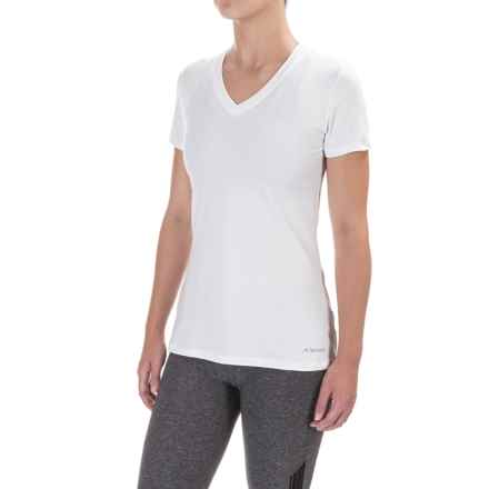 Terramar Knockout T-Shirt - V-Neck, Short Sleeve (For Women) in White - Closeouts