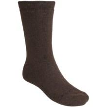 Terramar Lambswool Blend Socks - 3-Pack, Crew (For Men and Women) in Brown - Closeouts