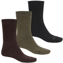 Terramar Lambswool Blend Socks - 3-Pack, Crew (For Men) in Black/Green/Brown - Closeouts